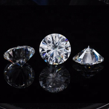 Nice Gems D Color Moissanite 1CT Excellent Hearts & Arrows Round Colorless 6.5mm Moissanite Loose Gemstone Lab Grown Diamond