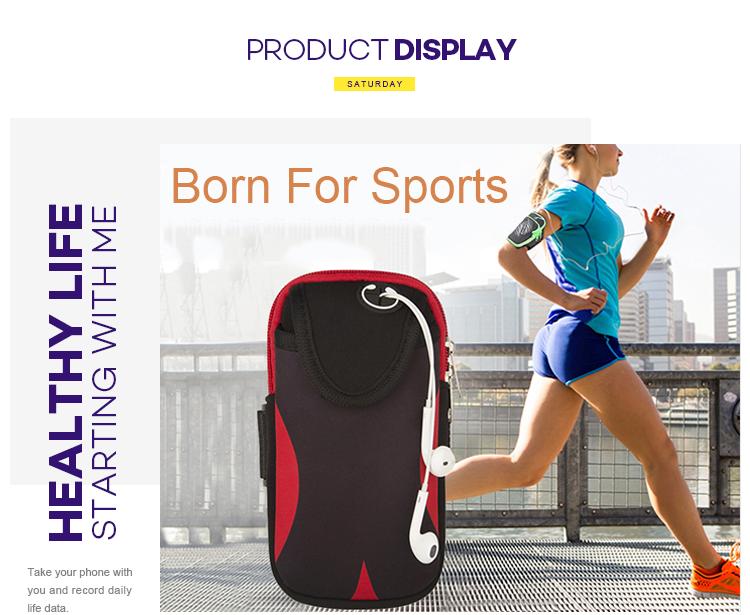 Best running belt for iphone Customizable Logo Waterproof Running Arm bag