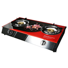 Gas Cooktop Gas Wholesale Iron Sheet Burner 2 Burner Gas Cooktop Glass Top Table Gas Stove
