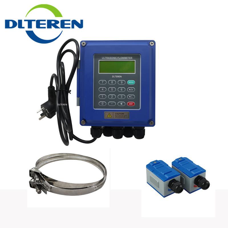 Clamp-on Flow Meter Sensor Liquid Ultrasonic Flowmeter Wall-mounted Ultrasonic Flowmeter BTU