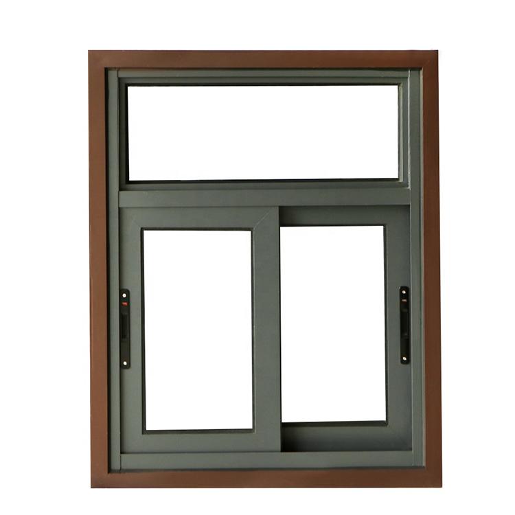 Guangzhou aluminum sliding windows with net design in a factory cheaper price