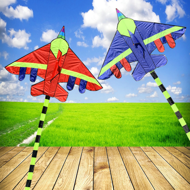 New triangle kite wholesale grassland combat aircraft good to fly kites