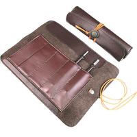 Waterproof Leather Knife Holder Storage Bag Multi Purpose Knife Roll Pouch