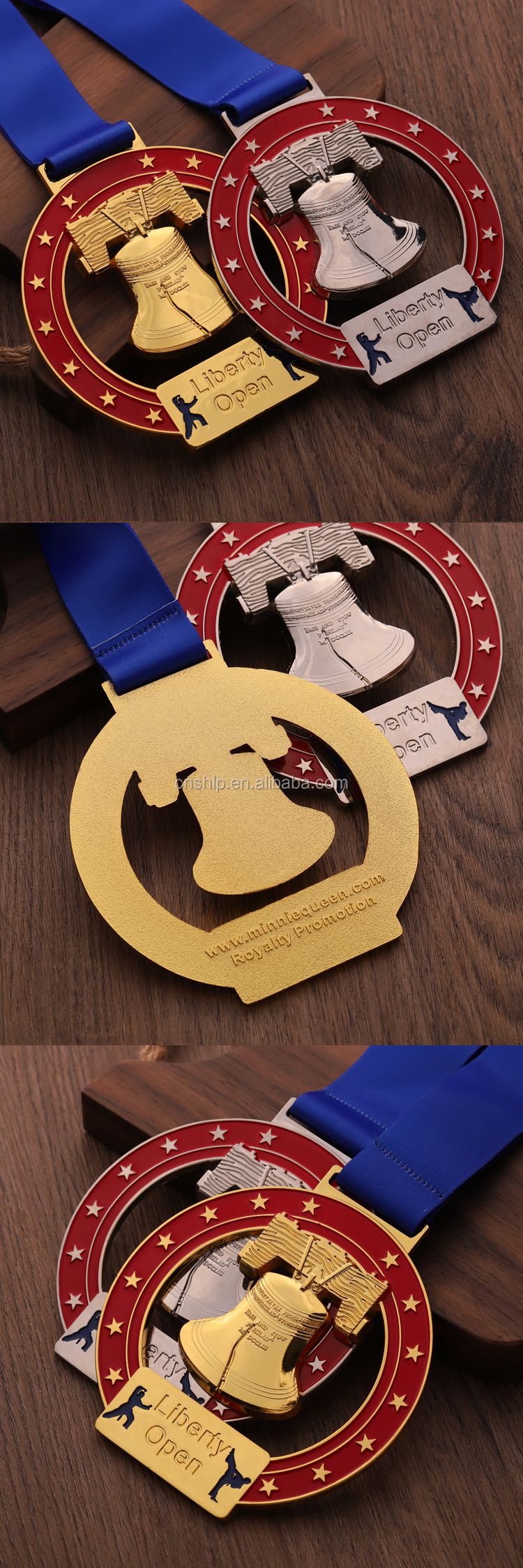 Zinc alloy die cast metal custom Karate medals for open tournament