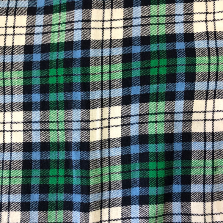2020 Lowest price  stock a lot 100 cotton plaid flannel double brushed fabric comfortable wear