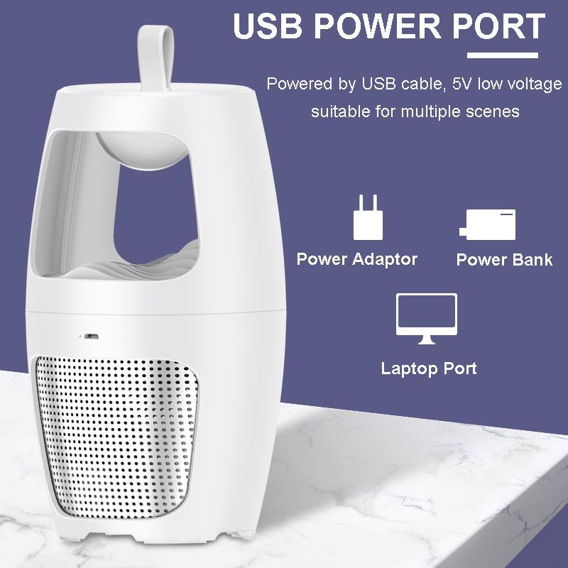 2020 Pabrik Dipatenkan Baru OEM USB Powered UV LED Elektronik Tahan Air Nyamuk Pembunuh Lampu