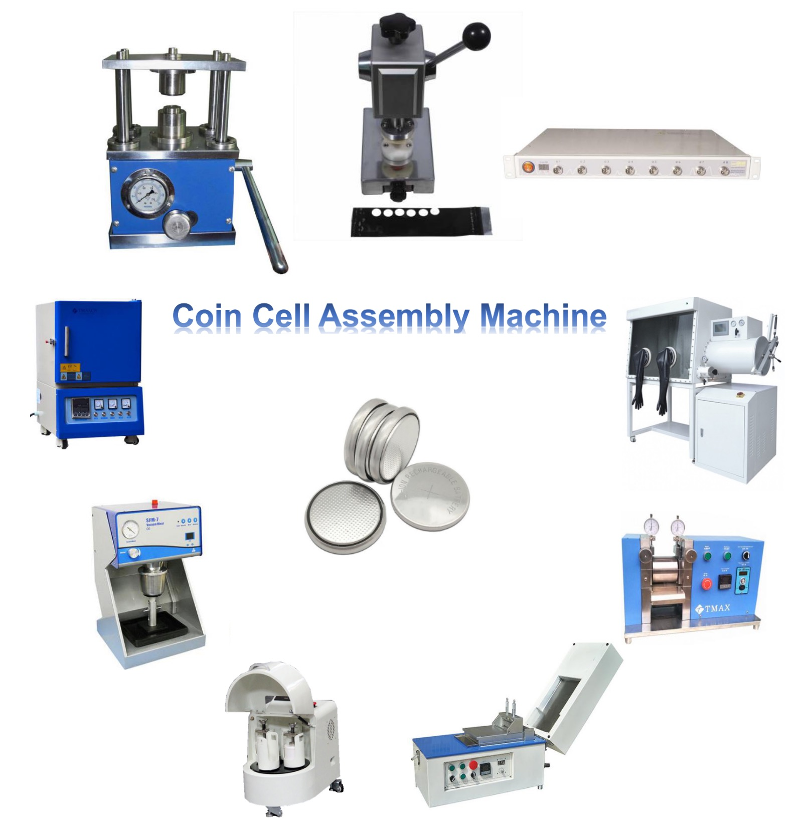 Lab Coin Cell Production Assembly Machine Coin Cell Research Equipment and Coin Cell Assembly Line