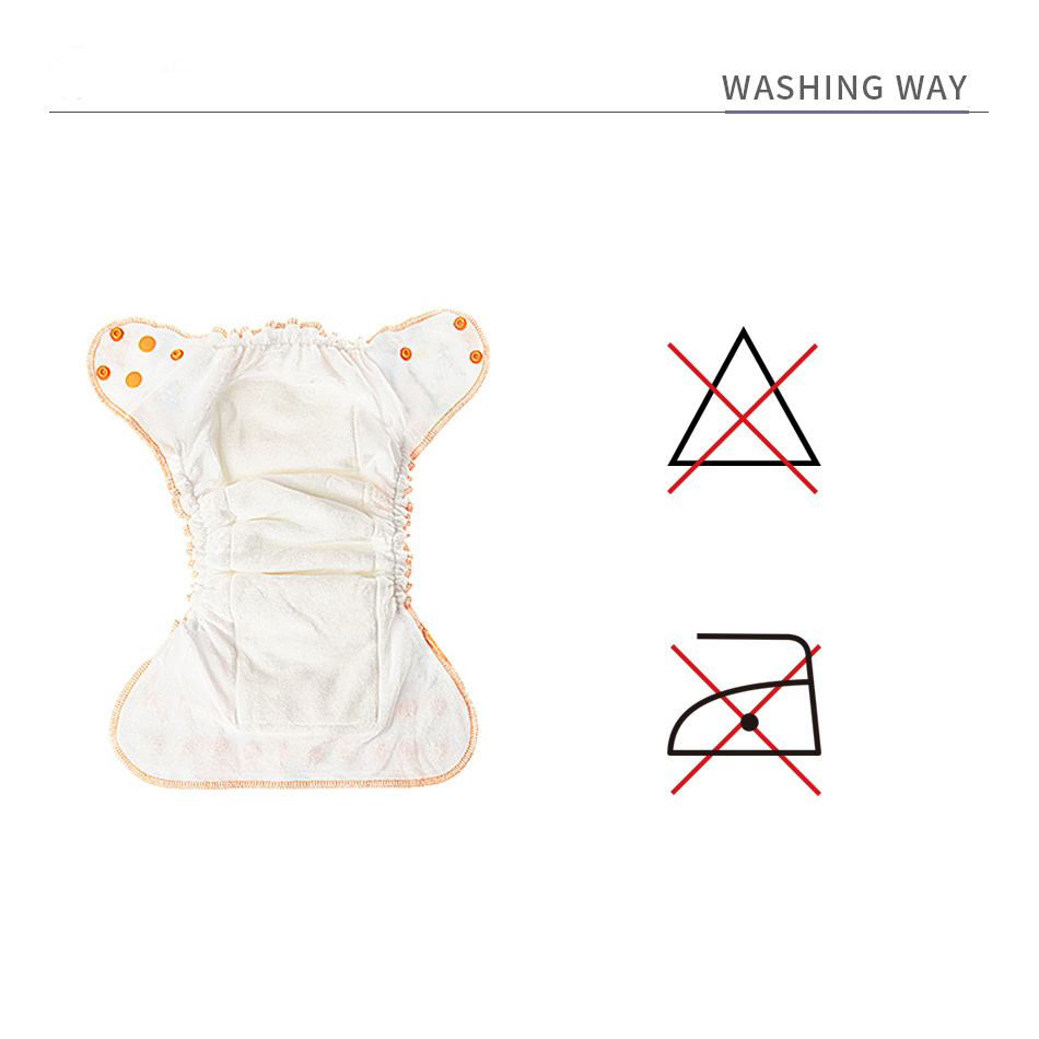 Happyflute one size washable bamboo velvet cloth diaper printed aio fitted diaper wholesale