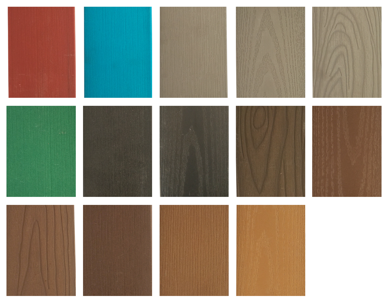 Plastic wood color swatch