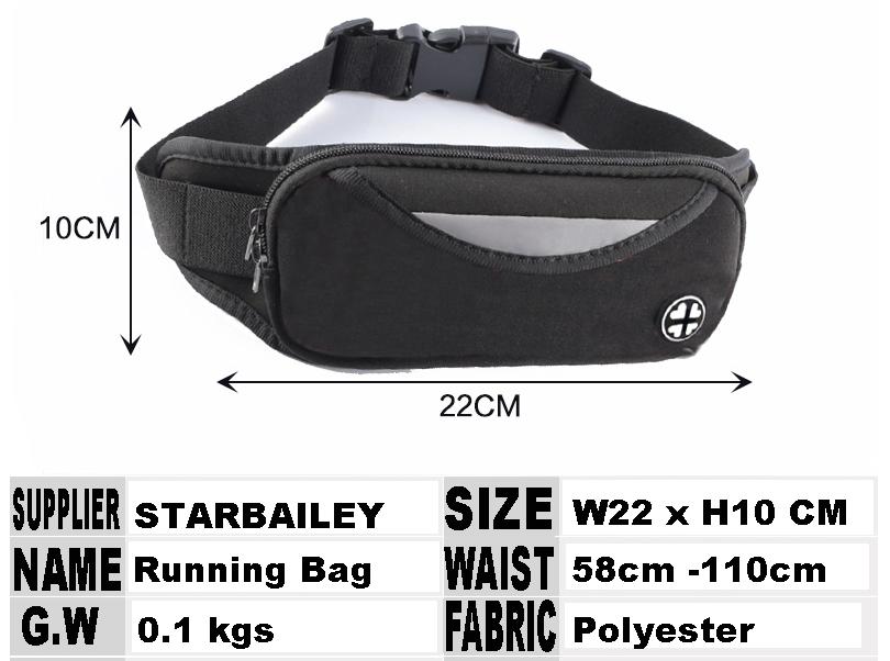 Solid Spandex Jogging Waist Bag Wholesales Nylon Polyester Running Waist Packs Cellphone Glasses Sports Slim Neoprene Bum Bag
