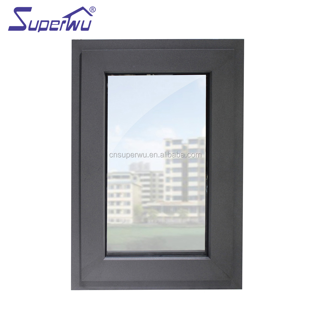 Aluminum residential French windows hurricane impact soundproof windows aluminium casement window for house