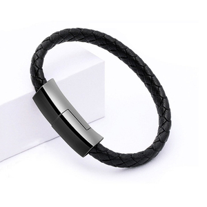 Leather Bracelet USB Quick Charger For iphone 7 8 Cable Mobile Phone Data Cable Portable Fast Charge Wire For Samsung S8 Xiaomi