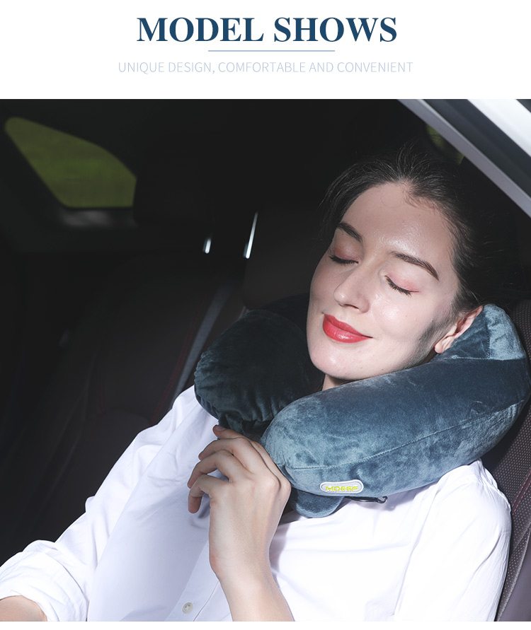 Multi-Color Two pillowcase Cooling Set Eye Mask Neck Rest Cushion mix U Shape Memory Foam Inflatable Travel Neck Pillow