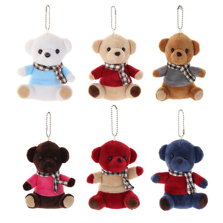 고품질 맞춤형 귀여운 부드러운 봉제 장난감 곰 Keychain
