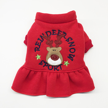 Christmas fitness pet clothes dog dress for christmas