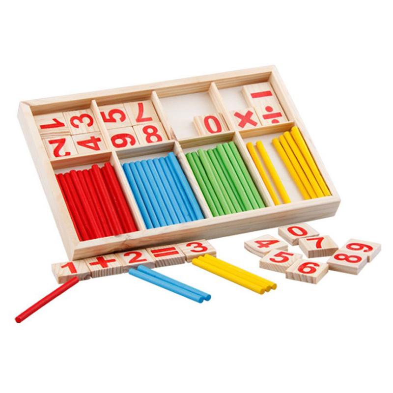 Bayi Mainan Kayu Intelijen Tongkat Pendidikan Mainan Kayu Blok Bangunan Montessori Matematika Hadiah Grosir
