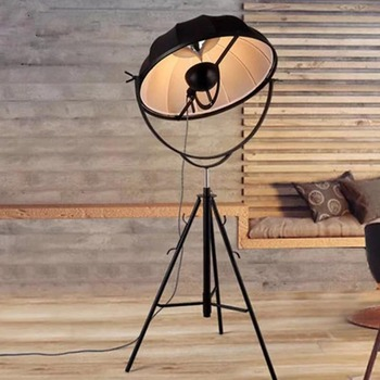 Italy Milan Satellite Modern Fabric Shade Large Tripod Floor Standing Lamp Photography Art Designer Lights Fixtures