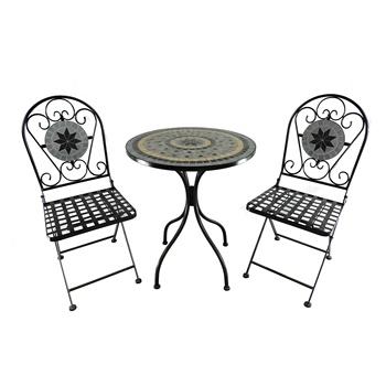 Haute Qualité Mosaïque En Pierre Ensemble Bistro Avec Pliable Table Et Deux  Chaises Mosaic Ensemble De Table - Buy Ensemble Table Et Chaise De Salle À  ...
