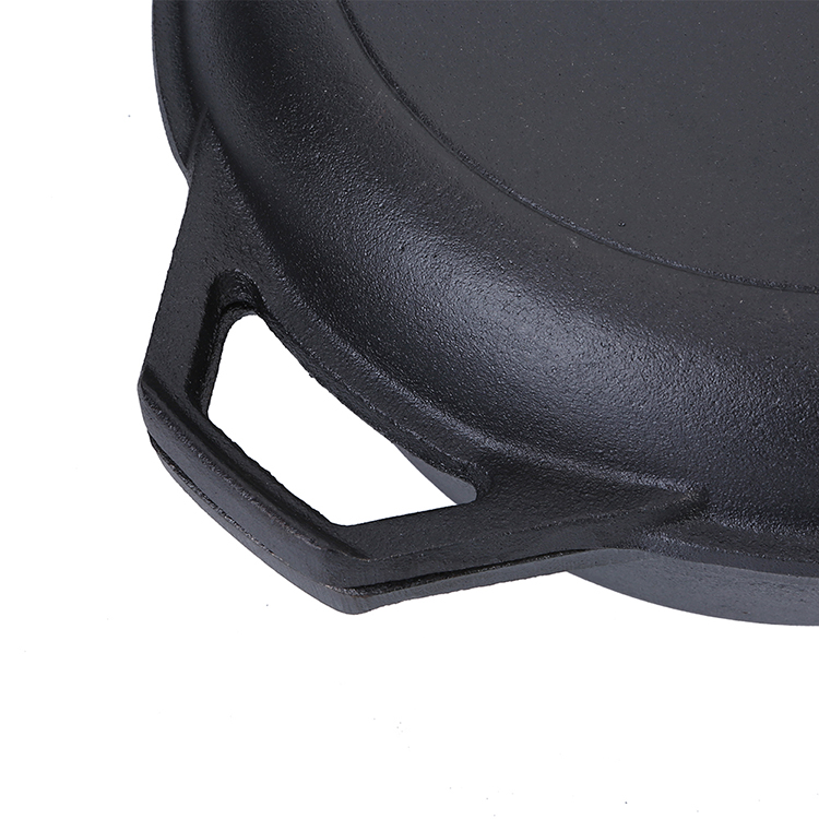Pre-Seasoned Camping Kitchen Cookware Cast Iron Combo Cooker With 3.2 Quart Dutch Oven and 10.25 inch Skillet Fry Pan