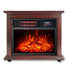 Adjustable Thermostat Fire Fireplace Electric Modern Freestanding Portable Wooden Infrared Electric Fire Place HEATER Fireplace with Mantel