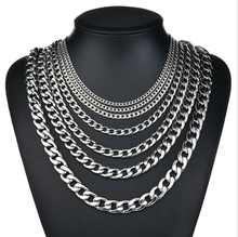 Accessoires Mode 2019 Zilver Goud Gevuld Solid Curb Chains Link Mannen Rvs Ketting Voor Man Vrouw