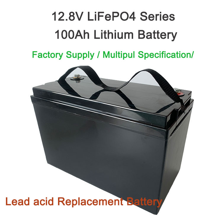 12.8V 100Ah  LiFePO4 Battery  for Solar Energy Storage Lithium Iron Phosphate Rechargeable Battery