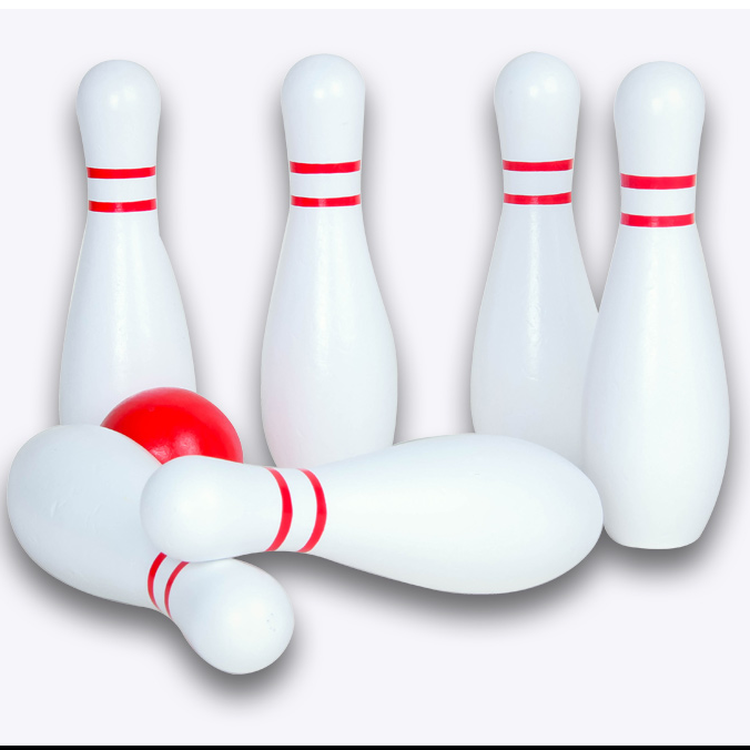 Produttore di alta qualità di legno mini gioco di bowling giocattoli educativi per i bambini Su Misura desktop bowling gioco set