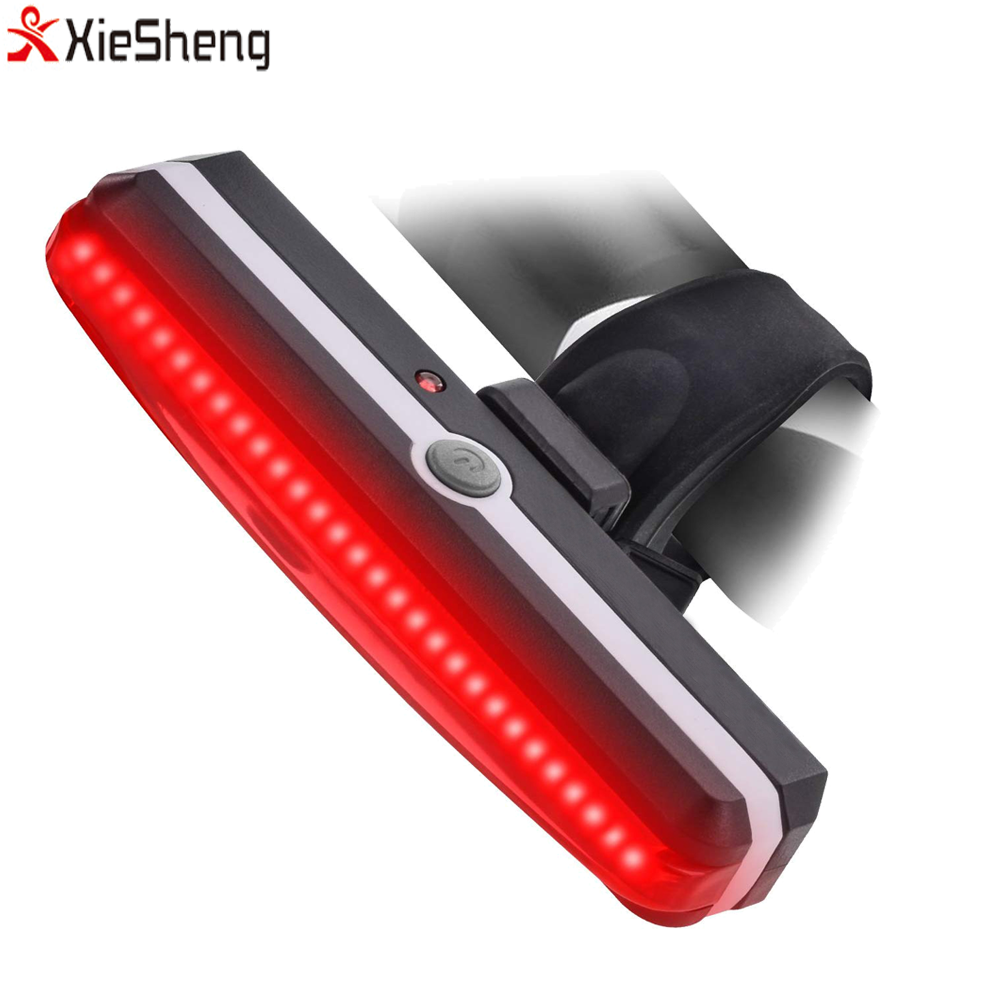 Cycling Safety Bike Rear Light Waterproof USB Rechargeable Bike Light Bicycle Tail Light