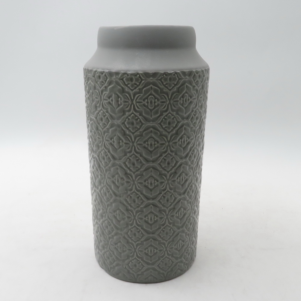 Luxury Home Ceramic Vase with Gold Decor for Plant/Flower