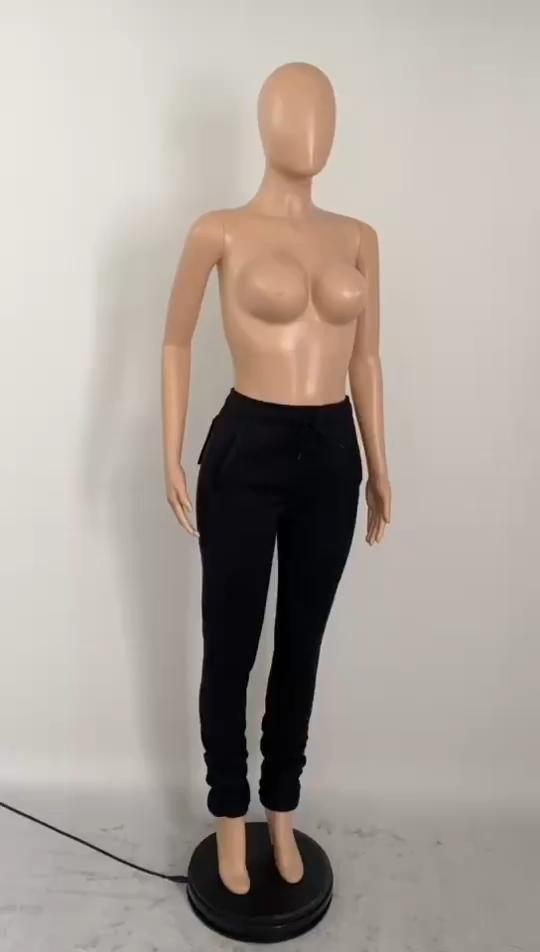 Оптом 2021 Новое поступление однотонные плотные брюки с высокой талией леггинсы женские зимние женские брюки штаны