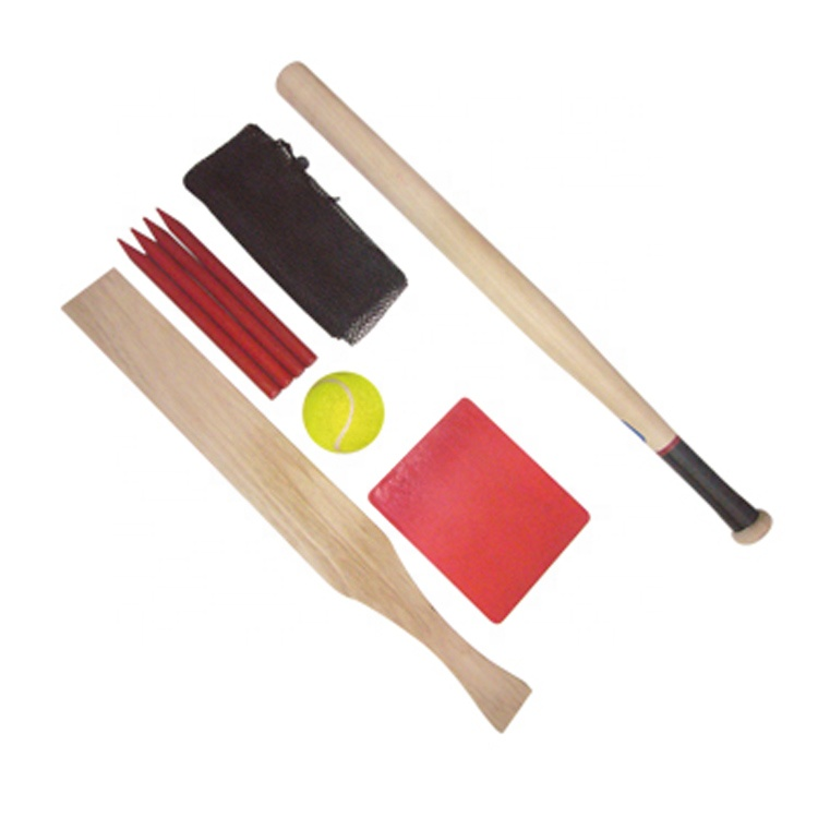 Massief Houten Baseball en Cricket Bat met Tennisbal
