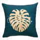 "tropical plants 18x18"" 45x45cm Custom pillow leaves wholesale printed cushion decoration square sofa throw pillow"