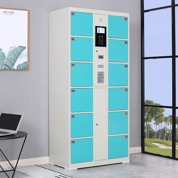 electronic code locks lockers  gym storage cabinet barcode system locker for public places