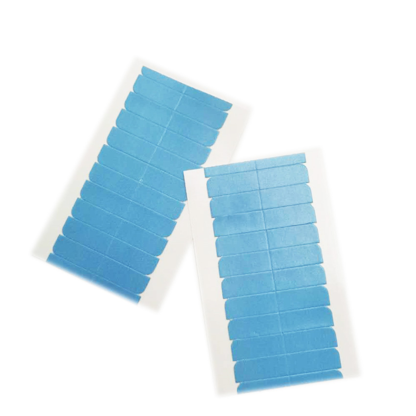A Sheet 12 pcs 40 x 8 mm Medical Adhesive Double Side Hair Tape Waterproof For Lace Hair Extension Tape tabs