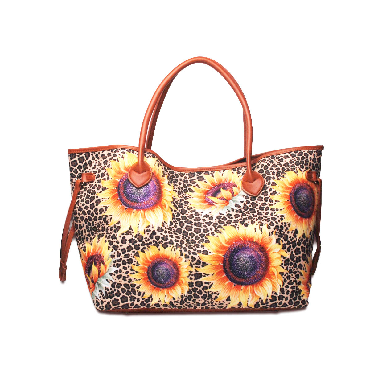 Wholesale Sunflower <strong>Tote</strong> Bag Canvas Leopard Handbag Women Shoulder Purse Sunflower Leopard Aztec <strong>Totes</strong> DOM-1089004