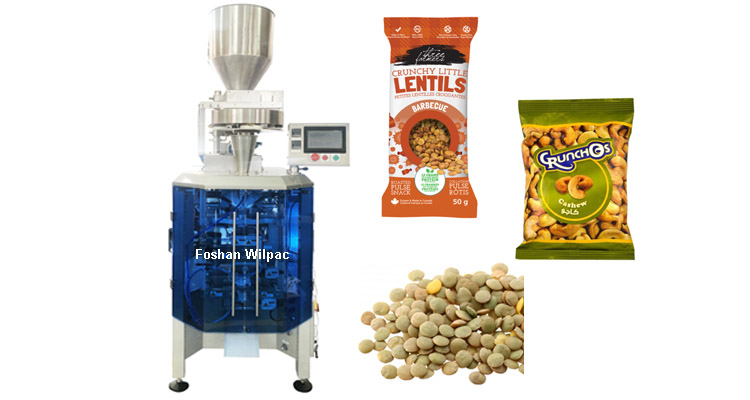 85bags/min 30g Sunflower Seed Sachet Pillow Bag Automatic Measure Cup Filling Packing Machine