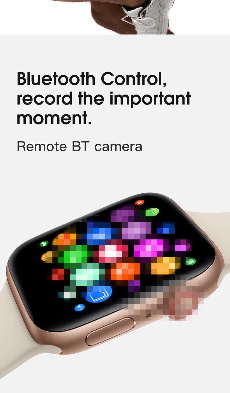 IWO8 Smartwatch 44mm strap Fall BT Anruf Erinnerung W54 PK iwo 10 12 serie 4 Für Apple IOS Android telefon IWO smart uhr