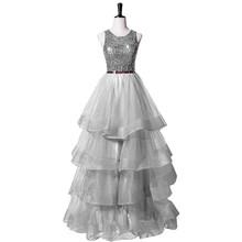 Платье для выпускного вечера, вечернее платье, вечернее платье с блестками, праздничное Тюлевое элегантное Дешевое вечернее платье(Китай)