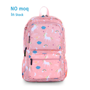 Wholesale sublimation digital printing custom young used school book bag backpack children cartoon character kids school bags
