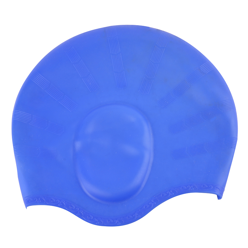 High Quality  Custom Printed Silicone Swimming Cap With Ear Cover Unique Swim Caps For Adult