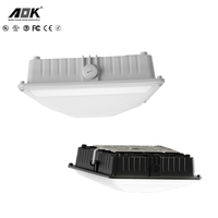 Good price dlc listed high power gas station led canopy lights 40W 5000K