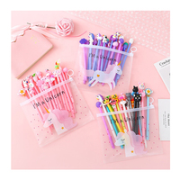Wholesale cute kawaii cartoon gel pen set school stationery for kids