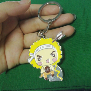Custom souvenir gift promotional logo keyring metal key chain