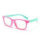 2019 flexible cute flexible safety silicone kids colorful blue light blocking glasses optical frames eyeglasses