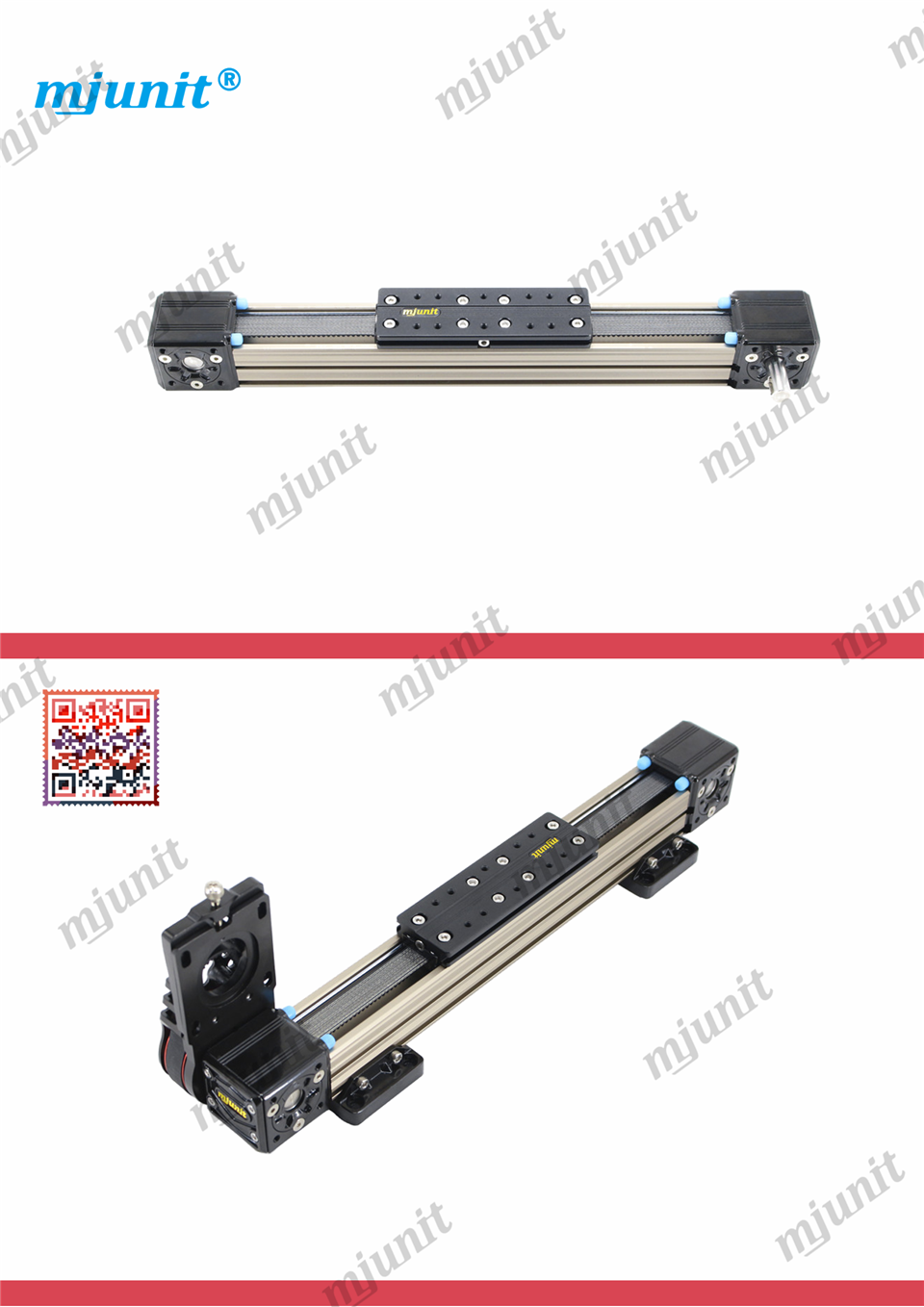 mjunit MJ40S belt drive linear motion guide guide rail with 2000mm stroke