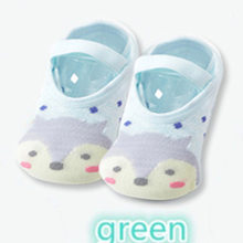 1 пара, модные Нескользящие хлопковые носки-тапочки с рисунками для маленьких девочек и мальчиков, носки-тапочки с рисунками животных для но...(China)