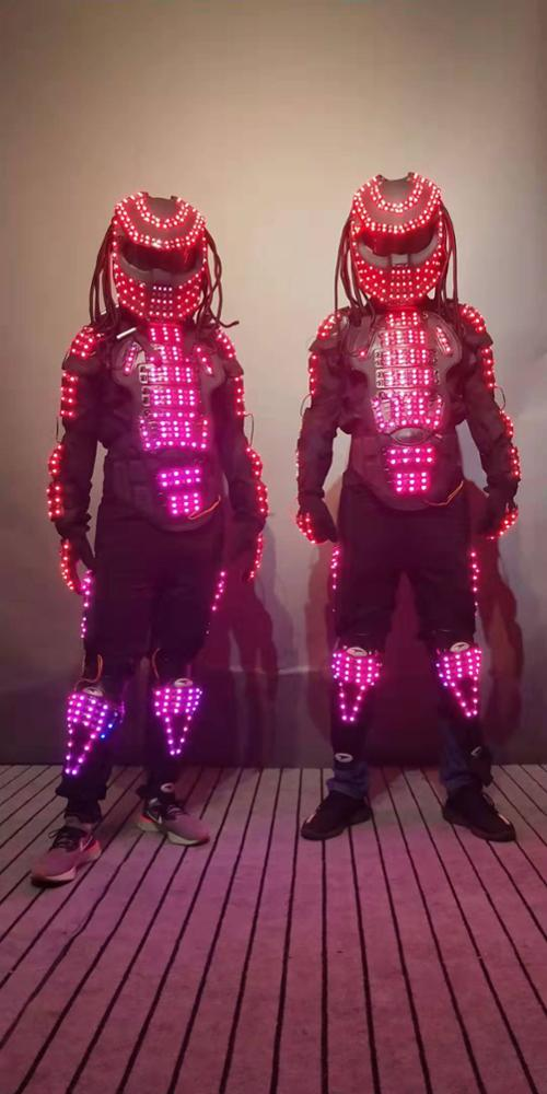 LED Predator stage clothes luminous costume LED robot suit led clothing light suits led costume for dance performance wear