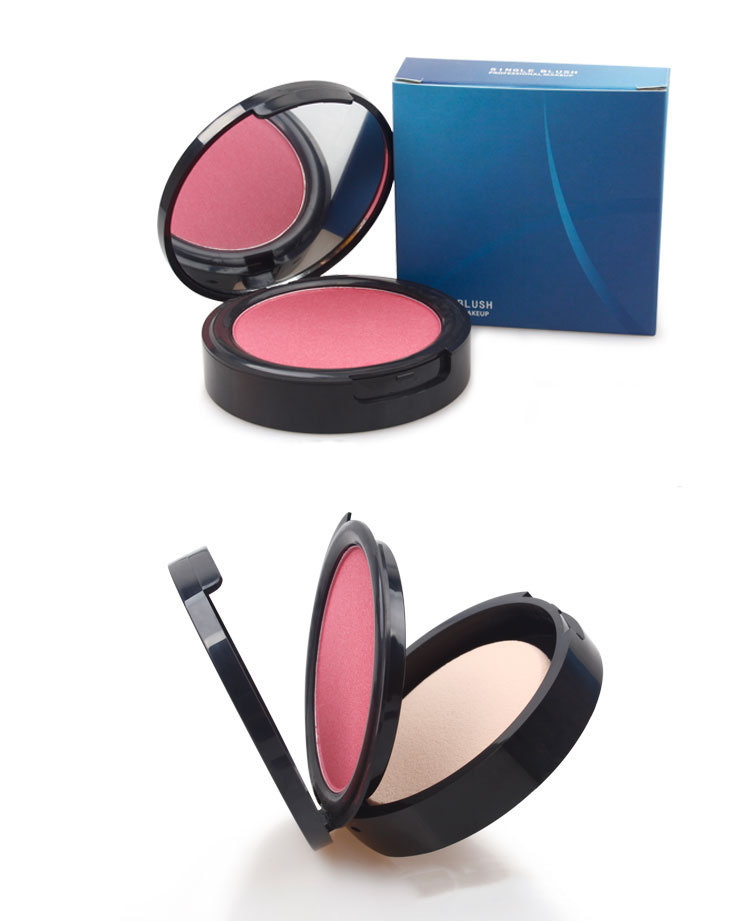 Cosmetic 5colors face makeup blusher no logo wholesale waterproof blush vendor