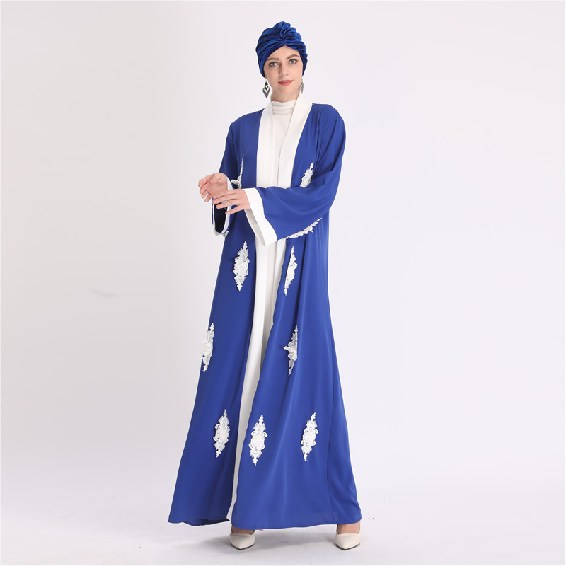 Wholesale vintage embroidery women abaya dubai kaftan kimono maxi dress muslim long abayas