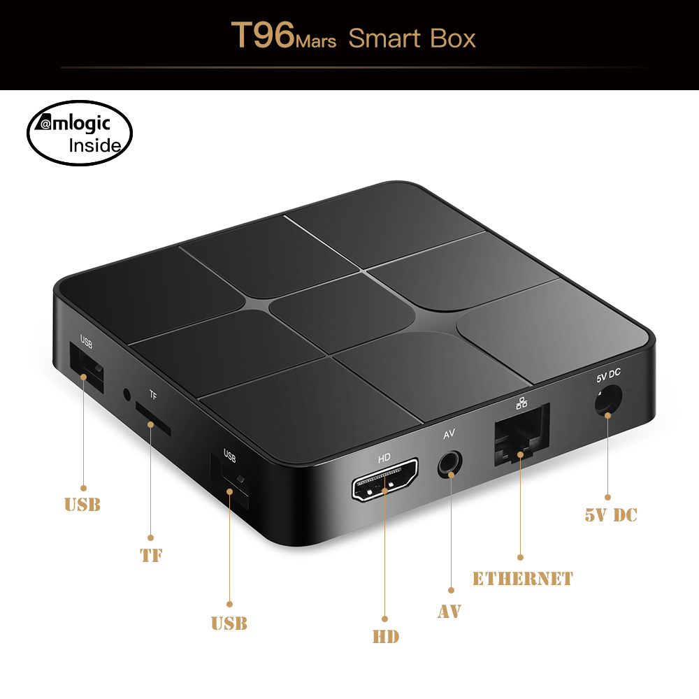 Amlogic S905W OEM Android 9,0 4K/3D/H.265 1 + 8 Гб, 2 Гб + 16 Гб Smart Android TV Box